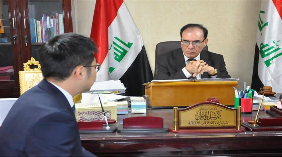 الدكتور كريم الوائلي يلتقي مباحثات مع سفارة جمهورية كوريا في العراق من اجل تبادل الخبرات التربوية وتطوير العمل التربوي